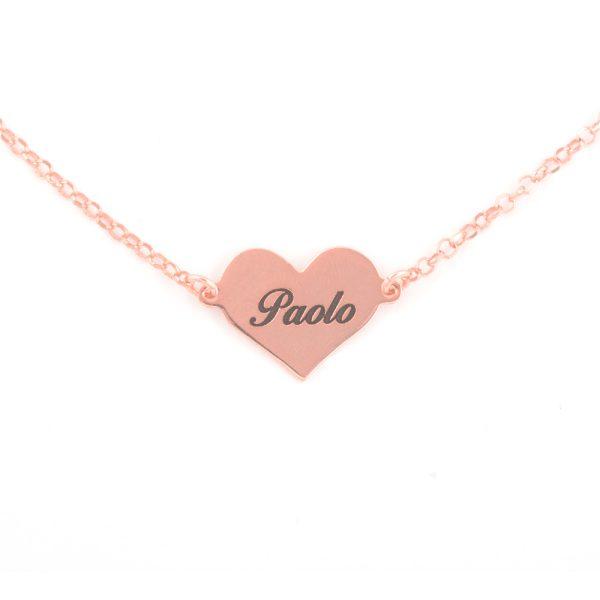taglia 40 5eced 464f7 Phy Gioielli | Collana con Cuore in Oro Rosa 18 carati ...