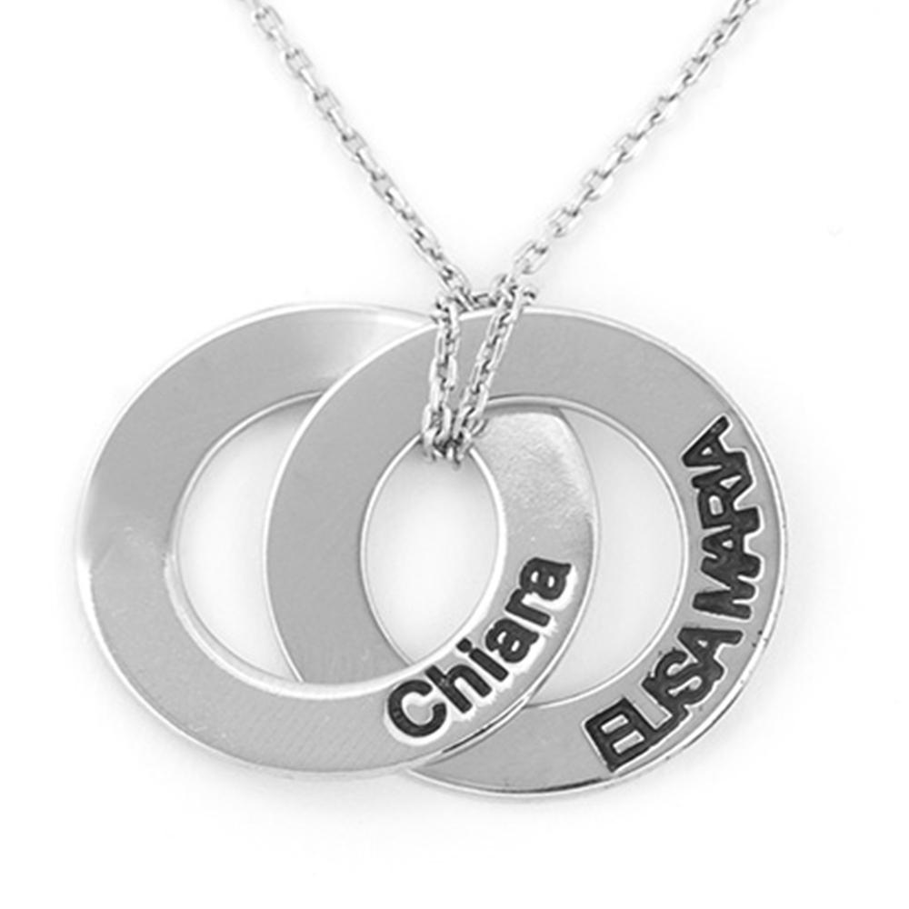 1 collana o bracciale o anello doppio personalizzatA col tuo nome  ITALY FRA A