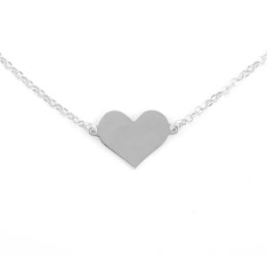 collana con cuore in argento e frase