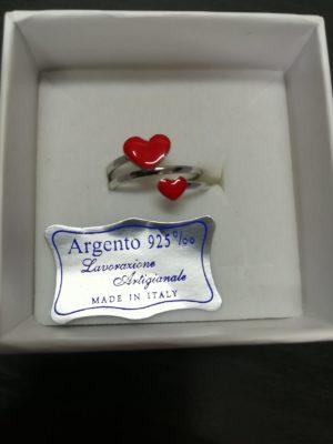 anello phy in argento doppio cuore