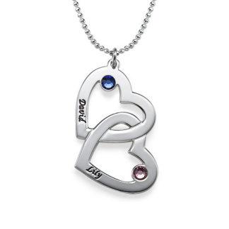 Collana-coppia-di-cuori-argento-e-pietre-portafortuna_phy gioielli