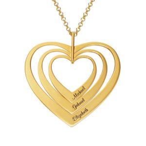 CollanaFamigliacon-CuoriplaccataCollanaFamigliacon-Cuoriplaccata-oro phy gioielli-oro phy gioielli
