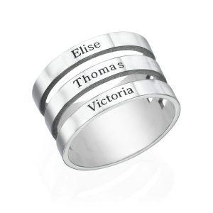 anello phy gioielli con 3 nomi incisi