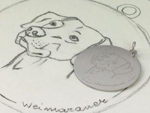 ciondolo-cane-weimaraner