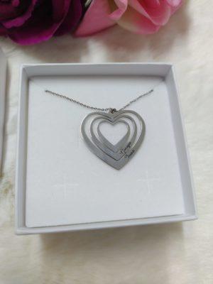 collana a 3 cuori pendenti argento