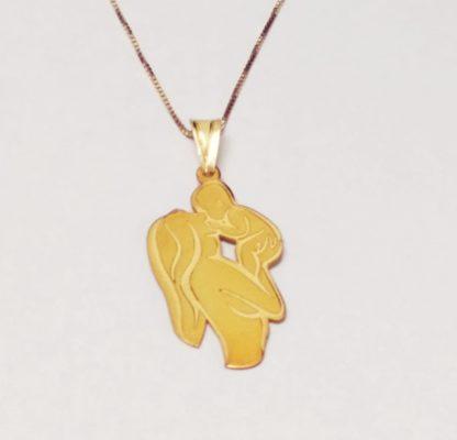 collana per mamma in argento placcato oro 18k