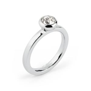 anello donna deny con zircone bianco