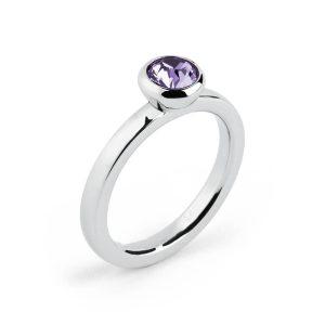 anello donna deny con zircone viola