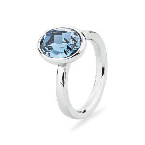anello dany ovale con zircone celeste