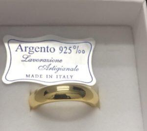 fede 7 grammi in argento placcato oro 18k