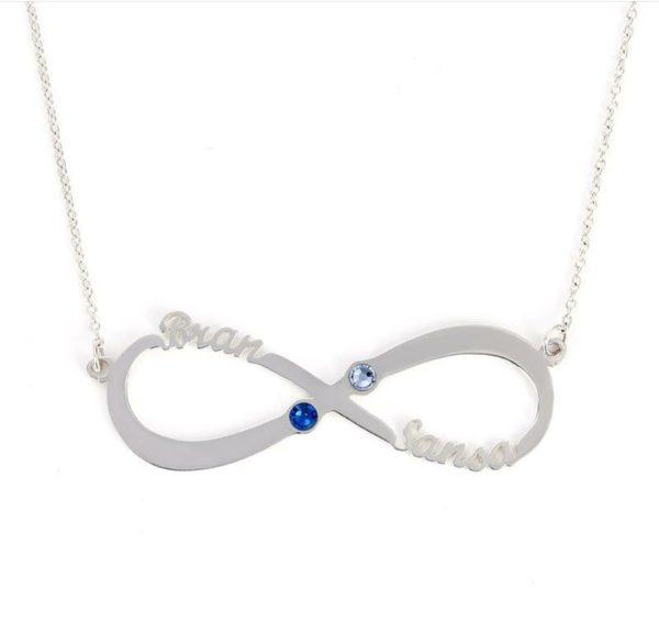 collana argento infinito con zirconi