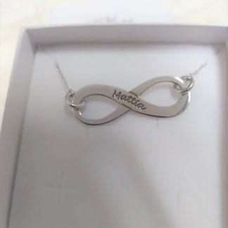 collana phy gioielli argento infinito con 1 nome
