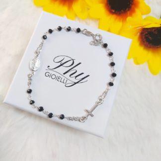 bracciale rosario nero