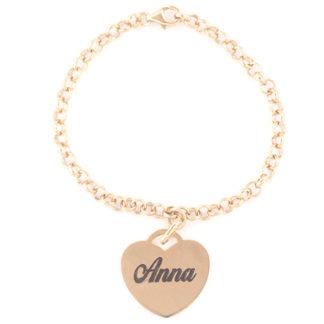 bracciali-donna-1-cuore in argento placcato oro 18k