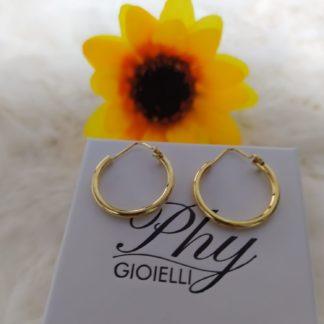 orecchini phy gioielli 1.5mm in argento placcato oro