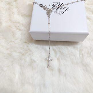 rosario uomo argento 925