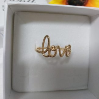 anello love argento placcato oro