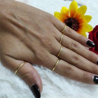 ferma anelli argento placcato oro
