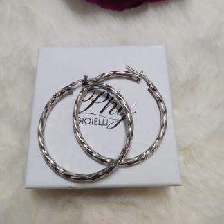 orecchini intrecciati argento 925