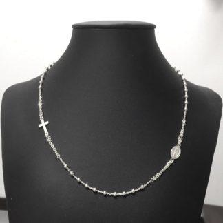 rosario girocollo argento