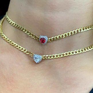 Collana chocker argento placcato oro